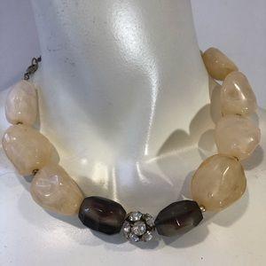 J. Crew statement necklace stones
